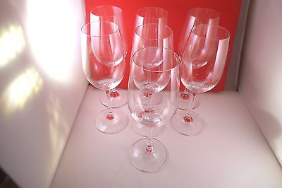 Marquis by Waterford Vintage Crystal Clear Glass Set of 7 White Wine Glasses