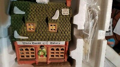 Department 56 White Horse Bakery #59269 Dickens Village Series 1988
