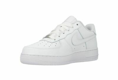 72ebbb90e0d BOYS GIRLS NIKE AIR FORCE 1 GS 314192 117 White Leather Trainers ...