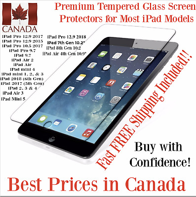Ultra Clear Premium Tempered Glass Screen Protector for most Apple iPad Models
