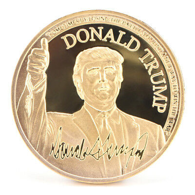 US President Donald Trump Inaugural Gold Commemorative Novelty Coin CollectBILS