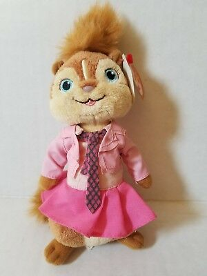 Ty Beanie Baby Babies Brittany the Chipmunk (Alvin and the Chipmunks) NEW MWMT