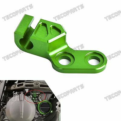 Green CNC Clutch Cable Guide Anodized Aluminum for Kawasaki KLX250 1998-2016