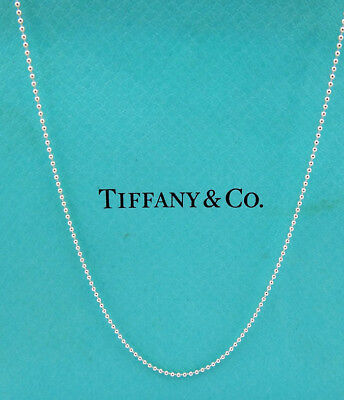 "Tiffany & Co. 925 Sterling Silver Beaded Chain 15"" Necklace"