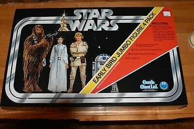 custom vintage star wars early bird display sticker Figure Stand mail away Action- & Spielfiguren