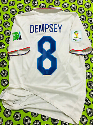 baf90457062 Nike USA United States Home Soccer Football Jersey World Cup 2014 Clint  Dempsey