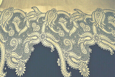 A20 Black & Beige Floral Paisley Wool-Cotton-Rayon Knitted Panels Made In Italy