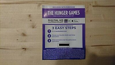 The Hunger Games Digital code from USA 4K UHD BluRay