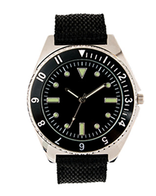 EAGLEMOSS REPLICA MILITARY WATCH - 1970's US NAVY DIVER - NEW & BOXED £4.99 !!!