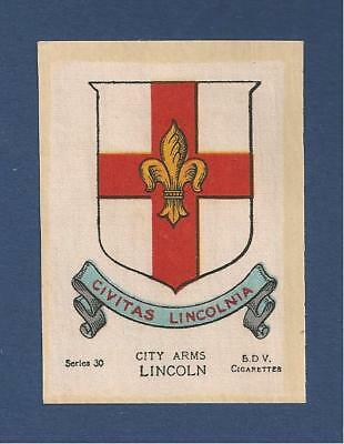 LINCOLN CITY printed silk Coat of Arms  Home of Lincolnians  original 1918
