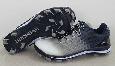 e71f831df81 NEW Boombah Men s Riot DPS Fade Molded Cleat Size 6.5 Navy Gray Youth COLOR  DEF.