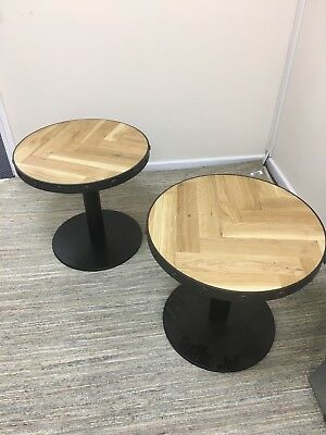 Industrial Side Tables  Matching Pair