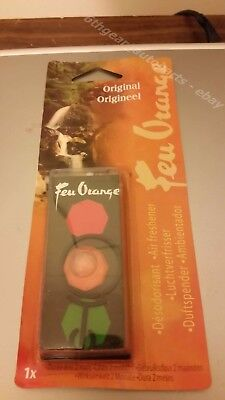 Feu Orange Original Car Air Freshener Retro Nostalgic 1990's