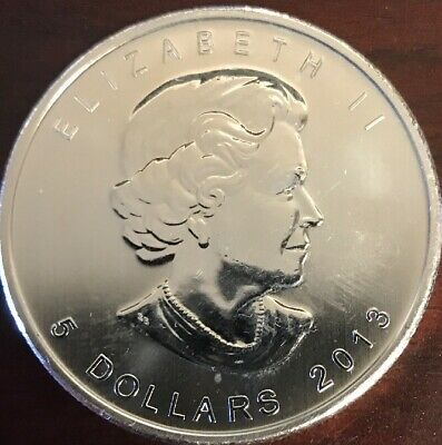 2013 Canadian Maple 1oz Silver Coin (D1:Tube)