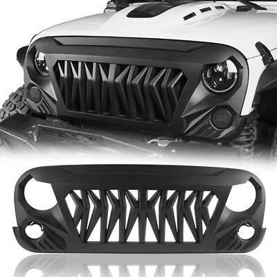 ABS Muscular Gladiator Grille Grill Cover for Jeep Wrangler JK 07-18 & Unlimited