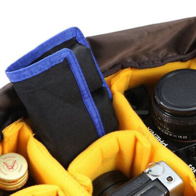 Nylon DSLR Battery Bag/ Holder/ Case Storage with 4 Pocket Pouch Waterproof