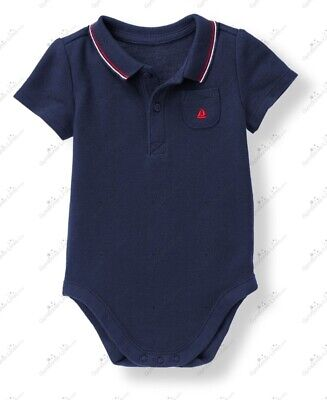 """Janie and Jack """"Stars and Stripes Forever"""" navy sailboat bodysuit, size 3-6 mo."""
