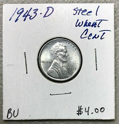 1943-D U.s. Lincoln Steel Wheat Cent ~ Bu Condition! $2.95 Max Shipping! C1514