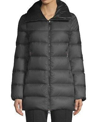 Details about New Authentic Moncler Sorbus Genuine Mink Fur Trim Quilted Jacket NWT Grey