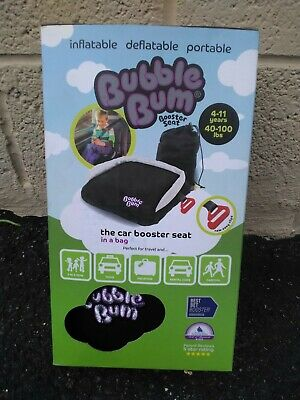 Bubble Bum Backless Inflatable Booster Car Seat Child Kids BubbleBum Carseat ***