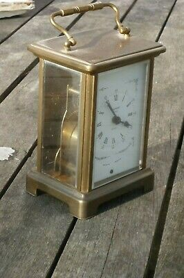 Brass cased carriage clock, 8 day, working. Bayard, Paris.
