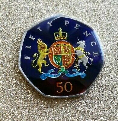 Enamelled Coin 50 Pence Christopher Ironside - UK 2013 50p