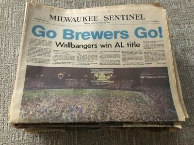 1982 Milwaukee Brewers-St. Louis Cardinals World Series Collection of Newspapers