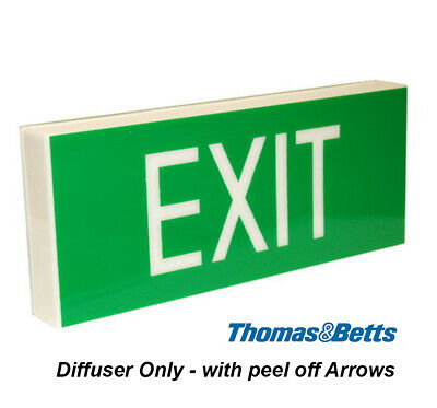 Emergency Exit Light SIGN ONLY Wall Mount Single Sided Peel off Arrows