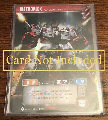 2x Transformer TradingCardGame TCG-Metroplex 6x8 Toploader & Sleeves PERFECT FIT