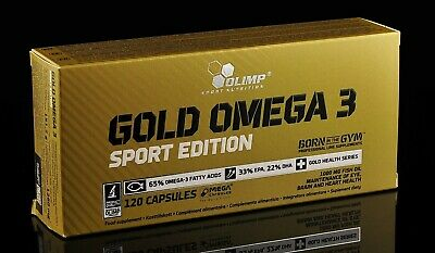 OLIMP Gold Omega-3  120 Mega Caps Sport Edition Fish Oil Fatty Acids EPA DHA