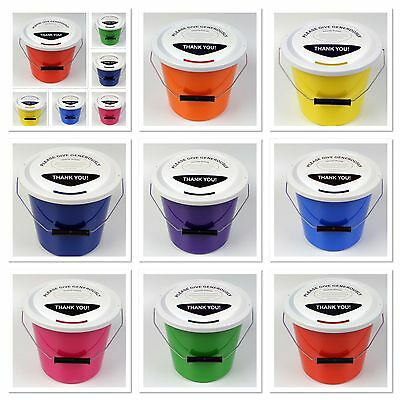 """Charity Money Collecting Buckets  Fundraising Donation Buckets  """" VALUE PACKS"""""""