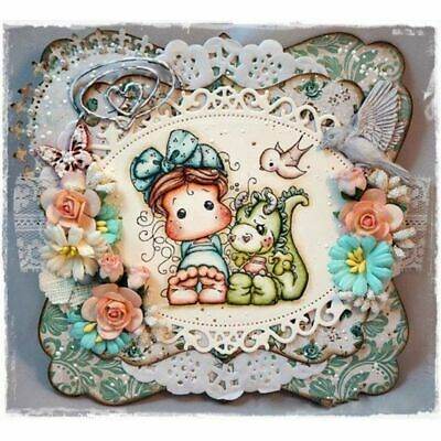 Crafts Decorative Transparent Stamp Silicone Rubber Lovely Girl Scrapbooking