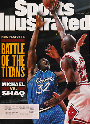 """Sports Illustrated May 22, 1995 """"Battle of the Titans"""" Michael vs. Shaq"""