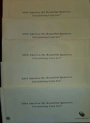 BU 2012 to 2016 US MINT ORIGINAL PACKAGE America The Beautiful WITH ERRORS!!