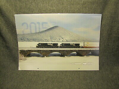 2015 Large Norfolk Southern Railroad Picture Calendar - Great Train Photos