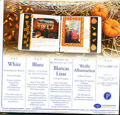 CREATIVE MEMORIES 7x7 WHITE PAGES BNIP