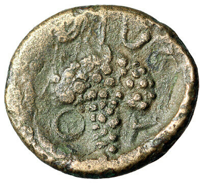 """CERTIFIED AUTHENTIC Greek Coin of Lokris Opuntii Greece """"Athena & Grape Cluster"""""""