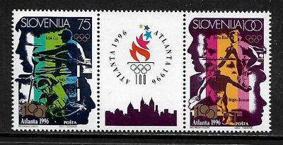 [X-376] Slovenia #260a MNH Pair With Label