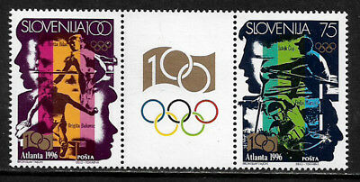 [X-377] Slovenia #260a MNH Different Pair With Label