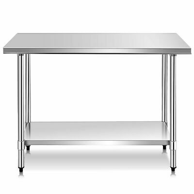 """24"""" x 48"""" Stainless Steel Work Prep Table Kitchen Restaurant Commercial New"""