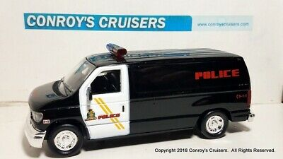 Road Champs 1/43rd scale Lethbridge, AB, Canada PD Ford Econoline Van (LOOSE)