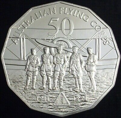 AUSTRALIA AT WAR 50 Cent Coin FLYING CORPS Uncirculated