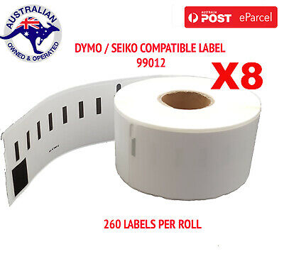 8 Compatible for Dymo / Seiko 99012 Label 36mm x 89mm Labelwriter450/450Turbo