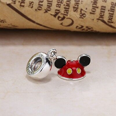 Authentic Pandora Sterling Silver S925 ALE Disney Mickey Ear Hat Dangle Charm