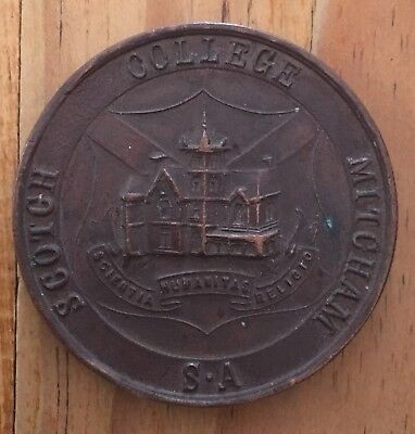 Scotch College Mitcham South Australia Bronze Token Medallion