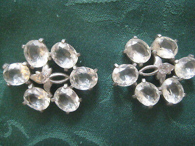 Dress ORNAMENTS vintage 1930s 1940s crystal glass sewing clothing hat trim