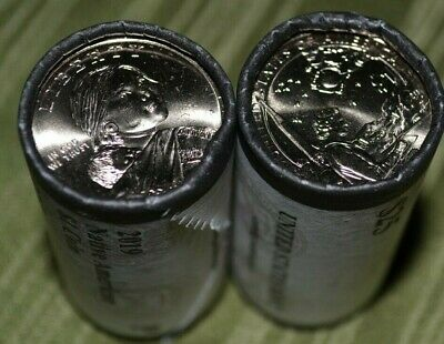 2019 P & D Native American Dollar Coin Mint Rolls Uncirculated (Space program)