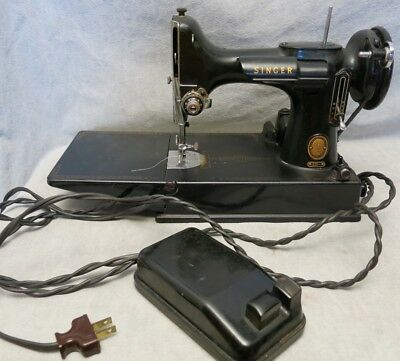 Singer 221 Sewing Machine with Case