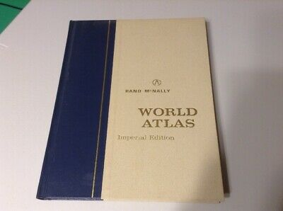 Rand McNally World Atlas 1966 Vintage 12.5 X 9.5 * Imperial Edition Colored Maps