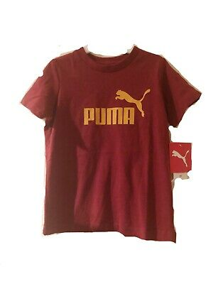 PUMA Toddler Boy 3T Shirt Top Tee Short Sleeve Pomegranate Logo T Shirt NWT